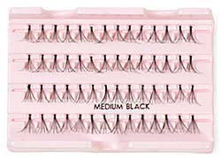 black individual false lashes