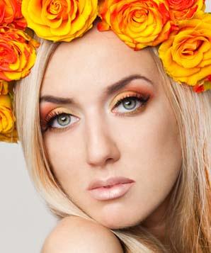 makeup-face-chart-model