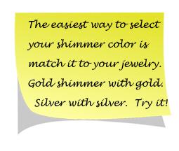 shimmer makeup tip