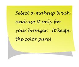 loose powder bronzer tips