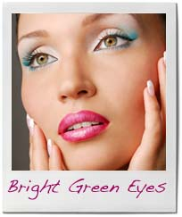 makeup for green eyes bright