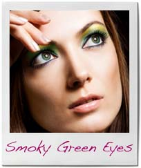 makeup for green eyes smoky