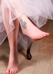 pretty ankle tattoo